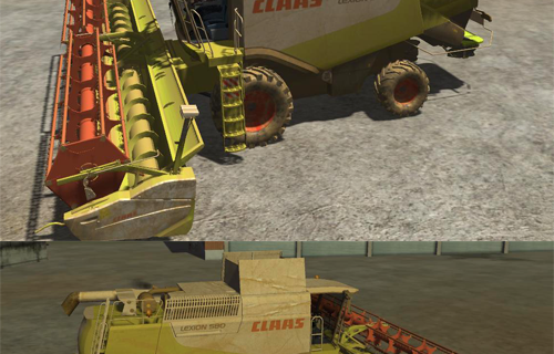 CLAAS Lexion 580 Pack v2.1 Fixed